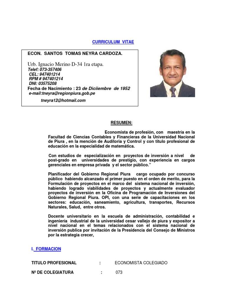m4 Curriculum Vitae Tomas Neyra Cardoza