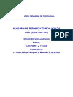 Glosario Terminos Toxicologicos Toxicologia Repetto