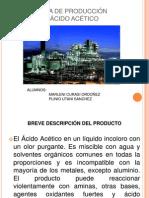 PLANTA DE PRODUCCIÓN ACIDO ACETICO