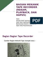 99966370 Bagian Mekanik Tape Recorder