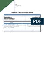 Cuenta de Transacciones Externas
