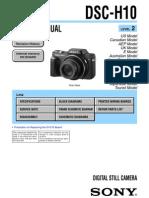 Sony Dsc-h10 Service Manual Le