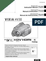 Vixia-hv30 Ntsc e