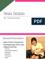 DES - Final Design Overview - 18amc