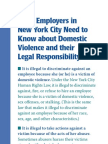 Domestic Violence and Employers's Legal Responsibility in New York City