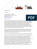 UC MSA SJP Letter to USCCR