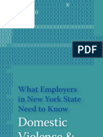 Domestic Violence and Employers's Legal Responsibility in New York State