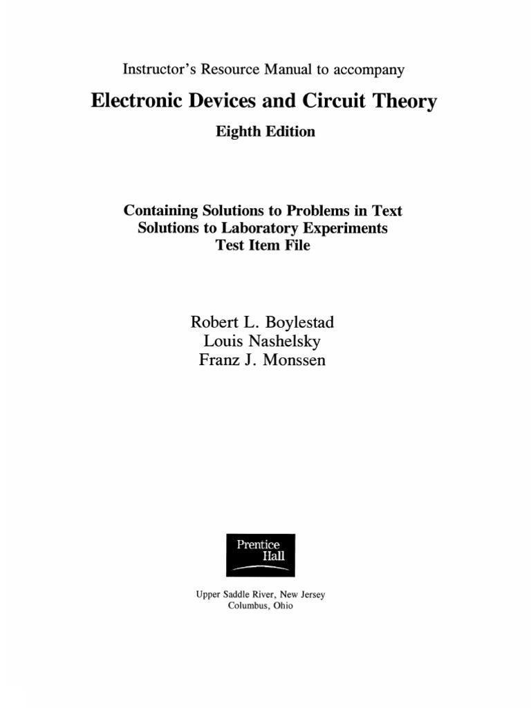 advanced semiconductor fundamentals solution manual pdf