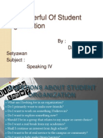 The Powerful of Student Organization
