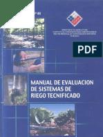 Manual de Evaluacion de Sitemas de Riego Tecnificado