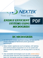 Energy Efficient Power Systems Using DC Microgrids