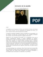 El Demonio de La Acedia - P. Horacio Bojorge