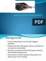 NANOSOLAR POWERSHEET