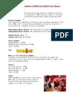 USC Fact Sheet