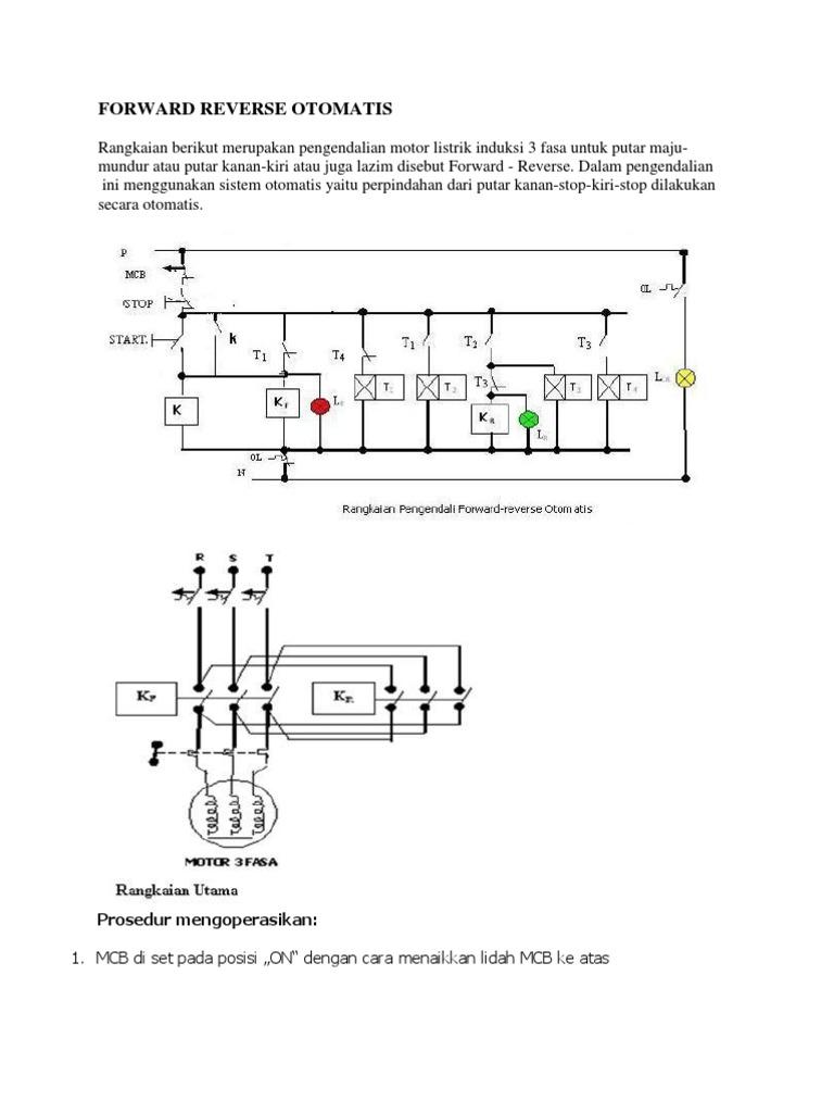 Rangkaian Motor 3 Fasa Putar Kanan Kiri Otomatis
