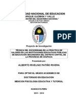 Proyecto Tesis Doctorado Psicologia Educativa y Tutorial 2 013-2 014