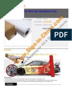 High Quality Bubble Free White Glue Self Adhesive Vinyl Film Vehicle Wrap 4447