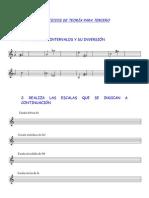 curso tercero teoría lenguaje musical