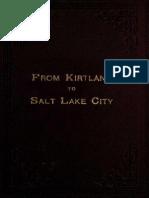 From Kirtland to Salt Lake City (1890)