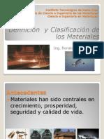 Definicion y Clasificacion de Los Materiales (1)