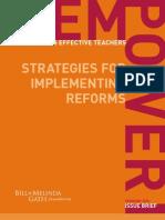 Empowering Effective Teachers Empowering Strategy
