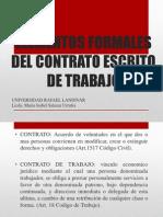 Presentacion de Elementos Formales Del Contrato de Trabajo Escrito 1