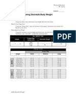 LAB 06 - Your Desirable Body Weight