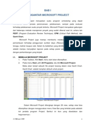 Manajemen konstruksi dengan aplikasi microsoft project pdf