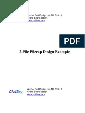 Pile Cap Design Examples