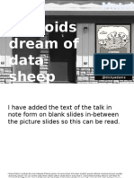 Will androids dream of sheep data? With Richard Adams