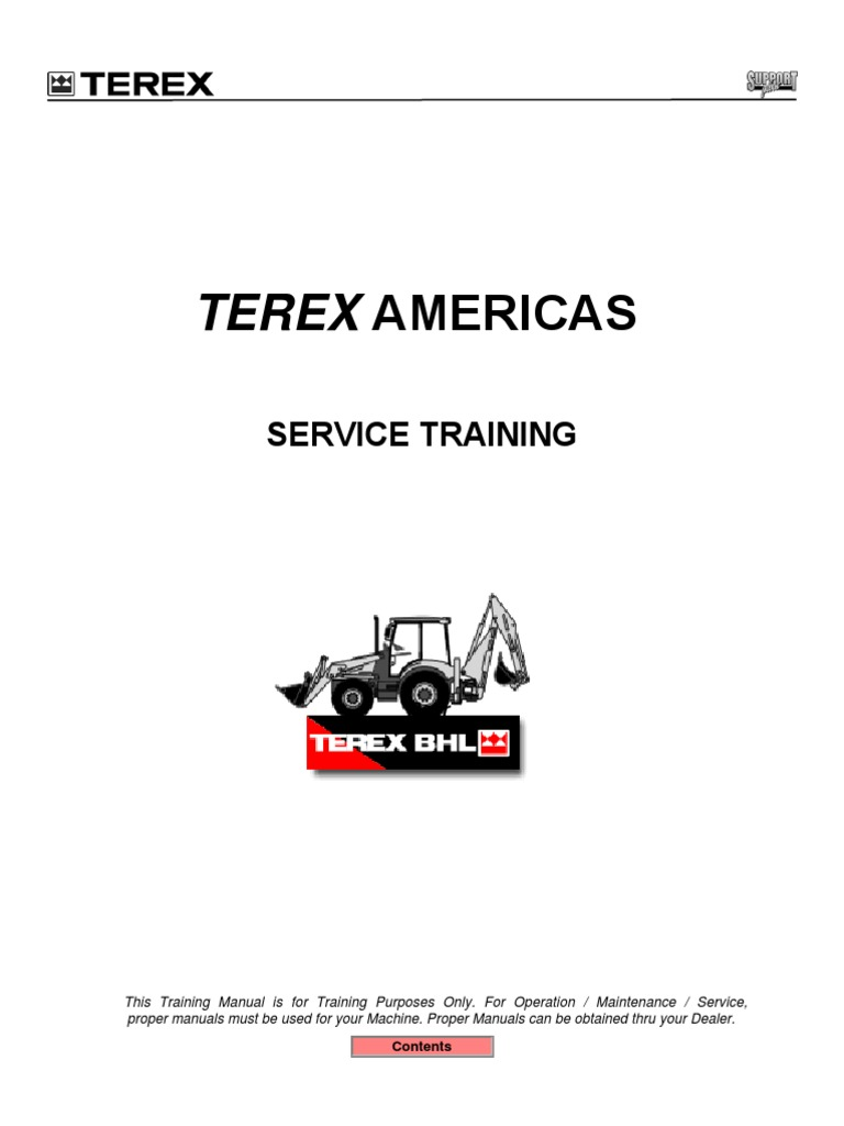 terex bhl train manual battery charger battery electricity rh scribd com Fermec TLK 860 Backhoe Fermec 860 Backhoe Review