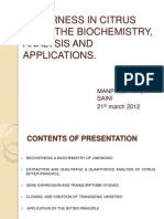 Limonoids - Biosynthesis, Biochemistry and Analyis