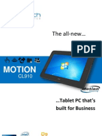 Motion CL910 Rugged Tablet PC Datasheet 2013