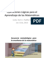 Operaciones Lógicas para el Aprendizaje de las Matemáticas