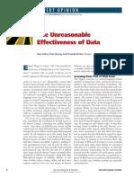 The Unreasonable Effectiveness of Data