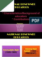 National Renowned Educators (2)
