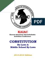 KAIAC Constitution 2013-14
