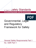 Governmental Legal and Regulatory Framework for Safety