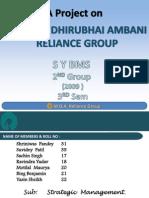 20877339 a Project on Mukesh Dhirubhai Ambani Reliance Group s y