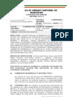 INFORME COORDINACIÓN GENERAL AUCM Abril 2013