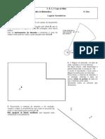Ficha de Trabalho - 8.º Ano - Lugares Geométricos