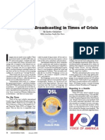 Broadcasting in Times of Crisis