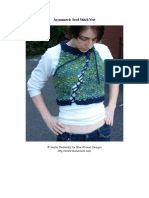 Asymmetric Seed Stitch Vest