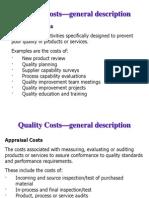 Quality Cost - General Description