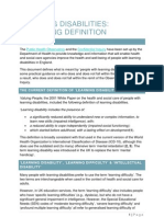 Learning Disability Criteria