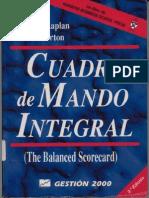 Cuadro de Mando Integral - Robert S. Kaplan y David P. Norton