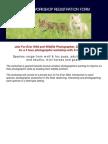 Fur Ever Wild Workshop Registration