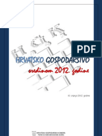Hrvatsko Gospodarstvo Sredinom 2012. Godine