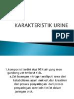 Karakteristik Urine