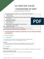Rituele Aspecten Van de Turkse Volksmuziek in Gent (Tekst)
